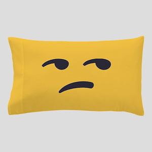 Unamused Emoji Face Pillow Case
