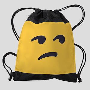 Unamused Emoji Face Drawstring Bag