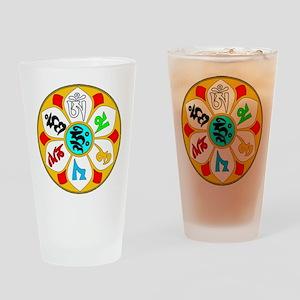 Om Ma Ni Pad Me Hum Drinking Glass