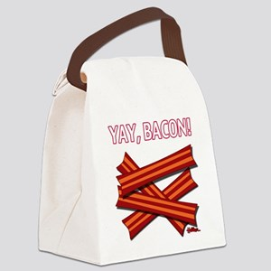 Yay, Bacon! Canvas Lunch Bag
