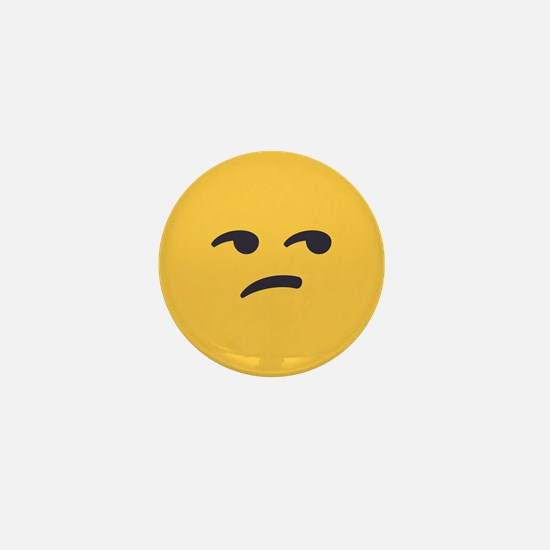 Unamused Emoji Face Mini Button