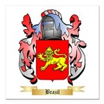 Brazil Square Car Magnet 3
