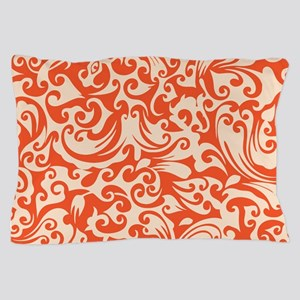 Tangerine & Linen Swirls Pillow Case