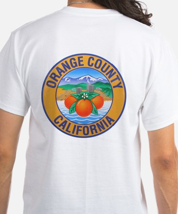 Orange County California White T-Shirt