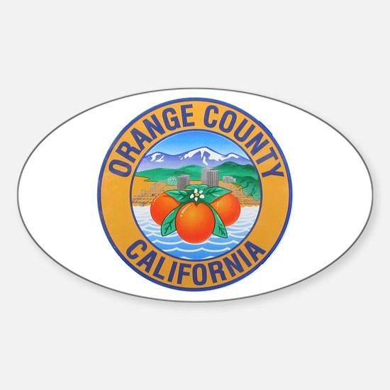Orange County California Oval Decal