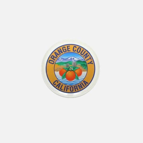 Orange County California Mini Button