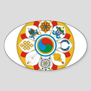 Ashtamangala Sticker (Oval)