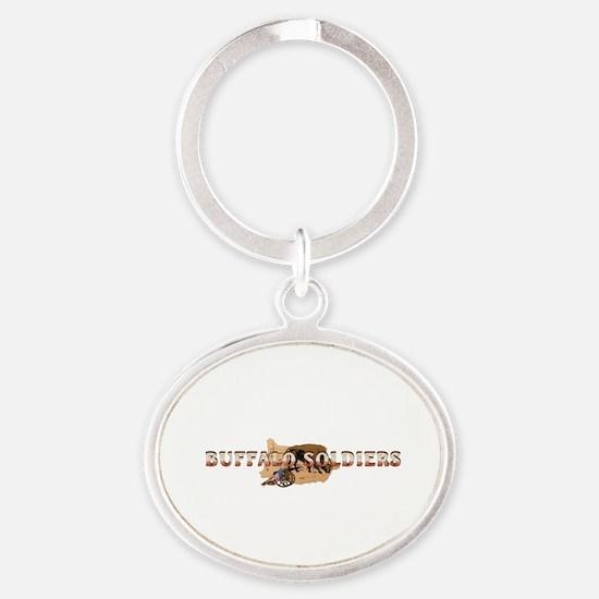 ABH Buffalo Soldiers Oval Keychain