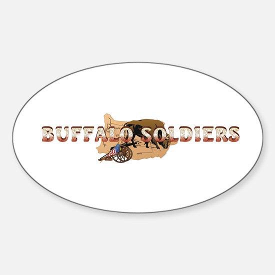 ABH Buffalo Soldiers Sticker (Oval)