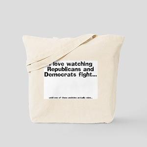 Republicans and Democrats Tote Bag