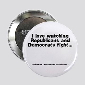 Republicans and Democrats Button