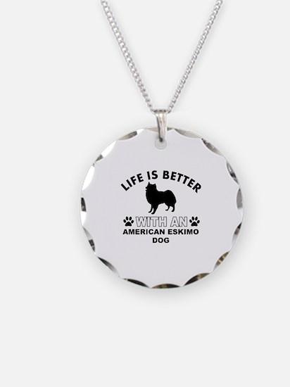 American Eskimo vector designs Necklace