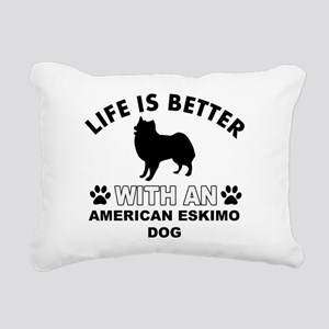 American Eskimo vector designs Rectangular Canvas