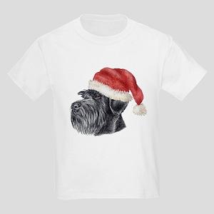 Christmas Giant Schnauzer Kids T-Shirt