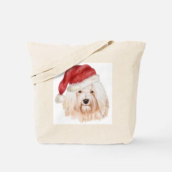 Christmas Havanese Tote Bag