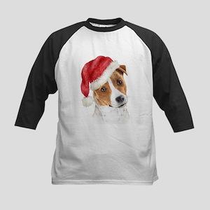 Christmas Jack Russell Terrie Kids Baseball Jersey