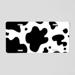 Cow Aluminum License Plate