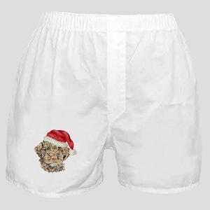 Christmas Lagotto Romagnolo Boxer Shorts