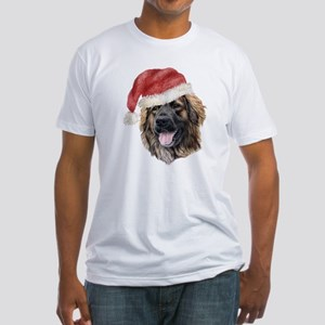 Christmas Leonberger Fitted T-Shirt