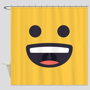 Happy Emoji Face Shower Curtain