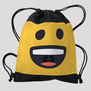 Happy Emoji Face Drawstring Bag