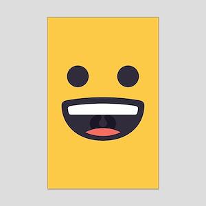 Happy Emoji Face Mini Poster Print
