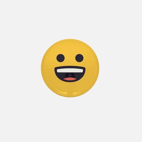 Happy Emoji Face Mini Button