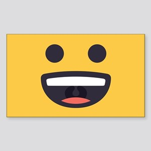 Happy Emoji Face Sticker (Rectangle)