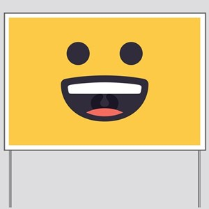 Happy Emoji Face Yard Sign