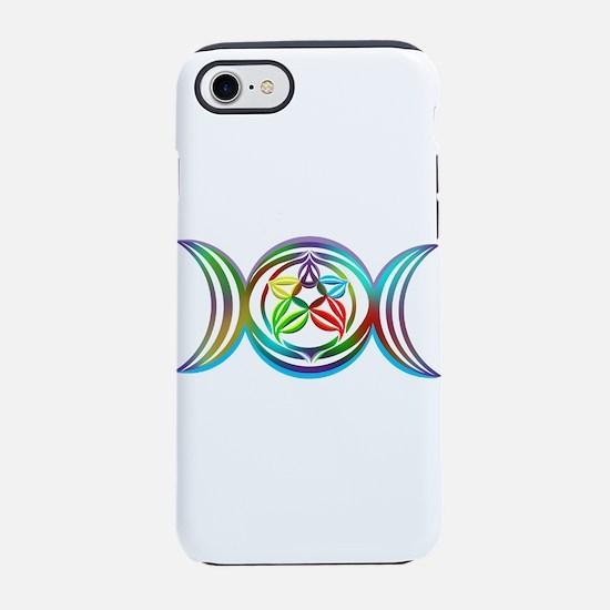 Rainbow Triple Moon Iphone 7 Tough Case