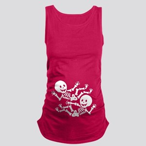 Halloween Twin Skeletons Maternity Tank Top