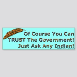 Government Trust Bumper Sticker