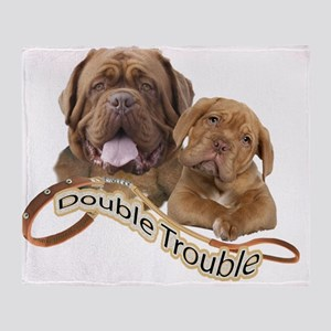 Dogue De Bordeaux Double Trouble Throw Blanket
