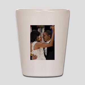 Barack and Michele Obama Shot Glass