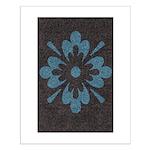 Blue floral Berber print Posters