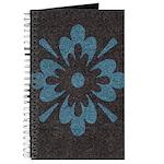 Blue floral Berber print Journal