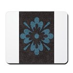 Blue floral Berber print Mousepad