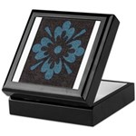 Blue floral Berber print Keepsake Box