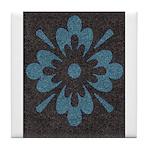 Blue floral Berber print Tile Coaster