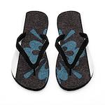 Blue floral Berber print Flip Flops