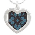 Blue floral Berber print Necklaces