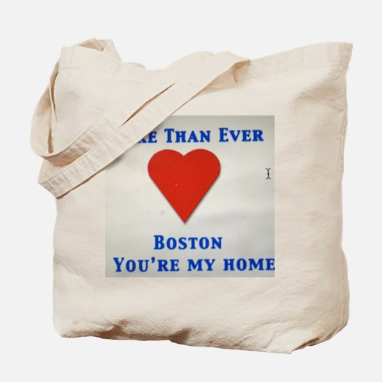 Support our wonderful town, Boston Tote Bag