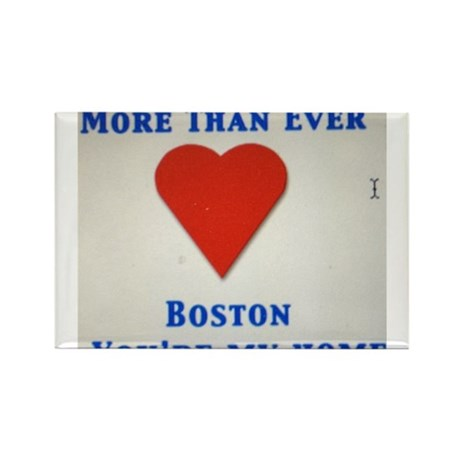 Support our wonderful town, Boston Rectangle Magne