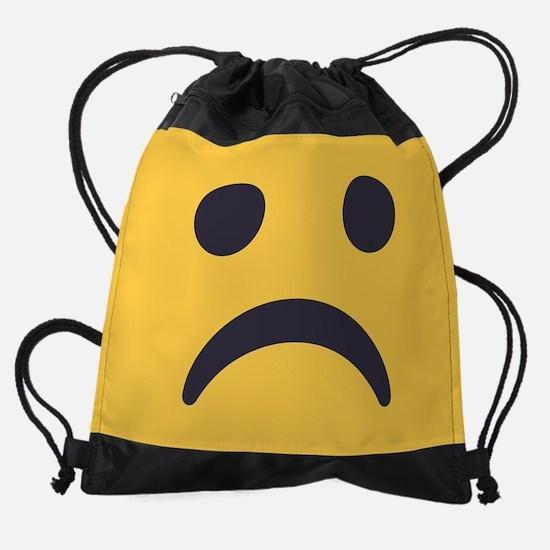 Frowning Emoji Face Drawstring Bag
