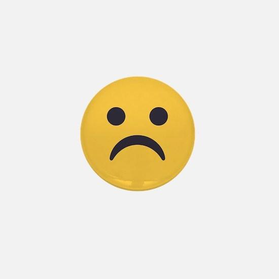 Frowning Emoji Face Mini Button