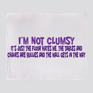 Not Clumsy Throw Blanket