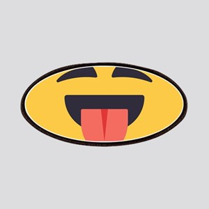 Closed Eyes Tongue Emoji Face Patch