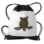 Pagan Sea Turtle Drawstring Bag