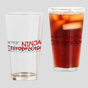 Job Ninja Chiropractor Drinking Glass