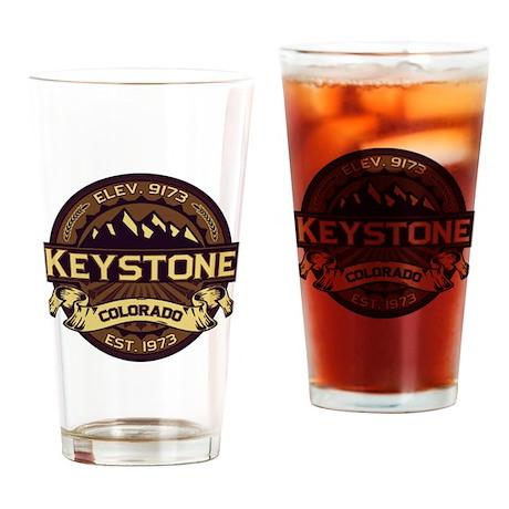 Keystone Sepia Drinking Glass